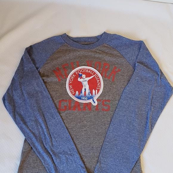 Ny Giants Logo Vintage Look T Shirt